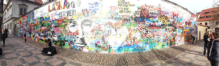 John Lennon Wall near Prague Castle