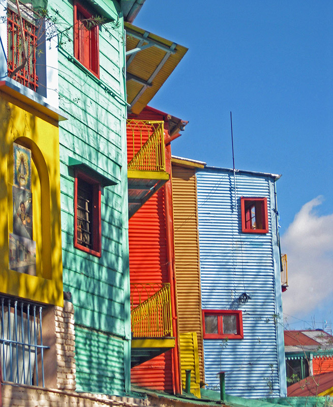 La Boca neighborhood in Buenos Aires, Argentina