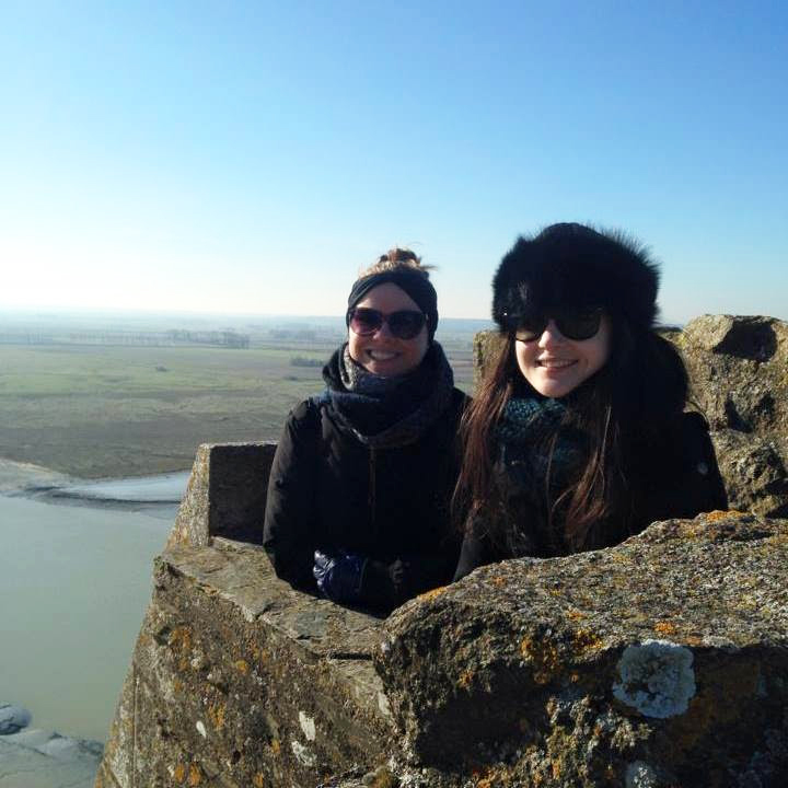 At the top of the chateau at Mont-Saint-Michel