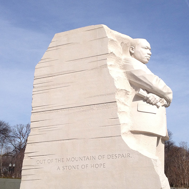 The Martin Luther King Jr. Memorial in the United States