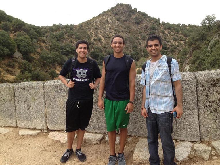 International interns hiking in Spain