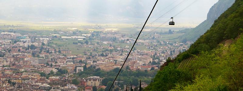 Cable car in Bolzano.