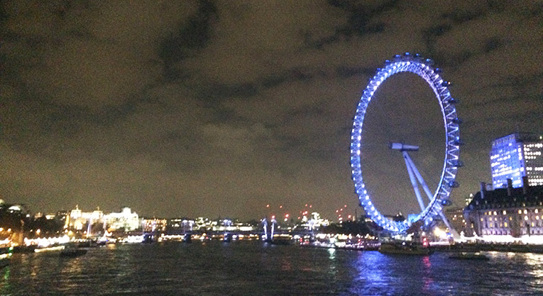 The London Eye in London, England