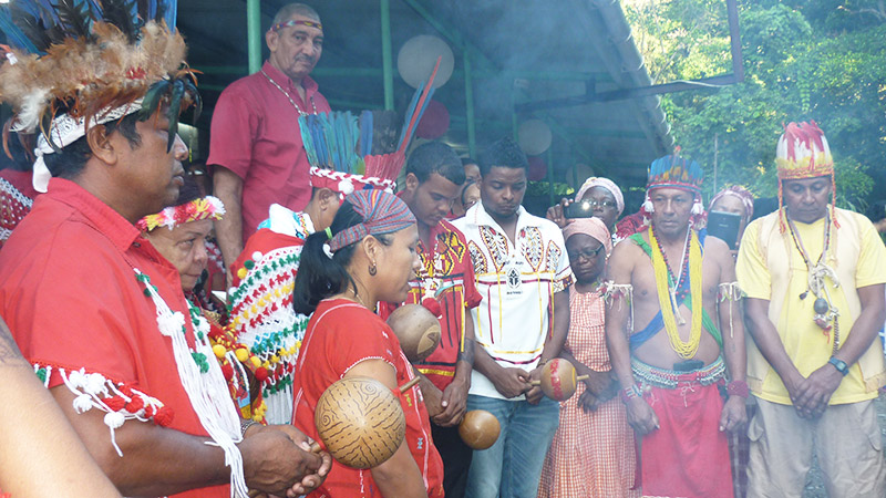 Spiritual Ceremony in Belize with First peoples of Santa Rosa Arima Trinidad.