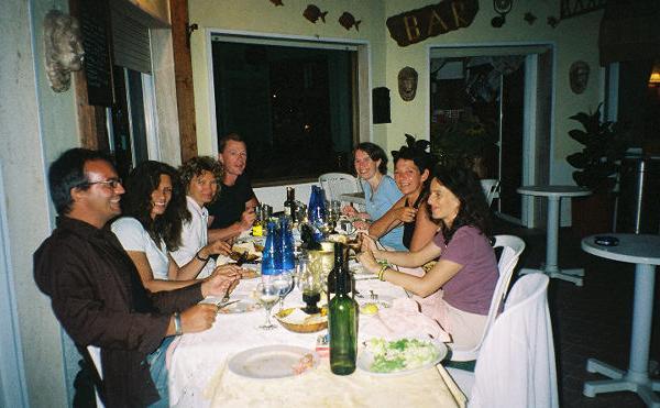 dinner at italian restaurants