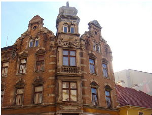 Beautiful buildings of Prague, Czech Republic