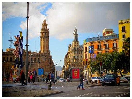 A Barcelona street scene