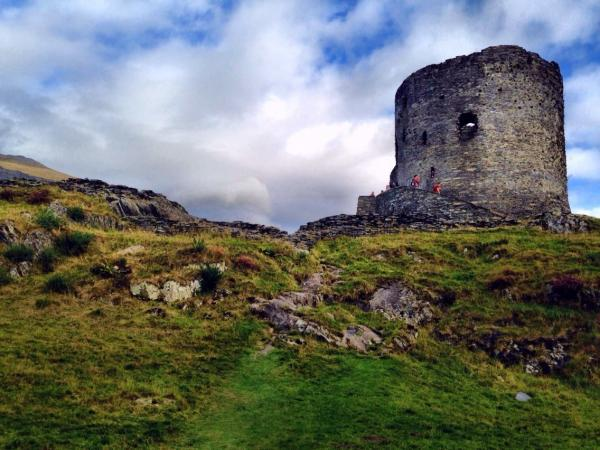 ruined tower in Wales