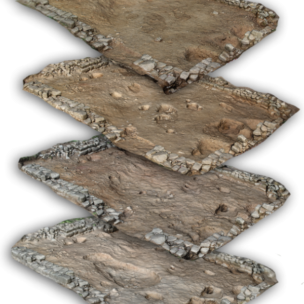 3D GIS of an excavation area