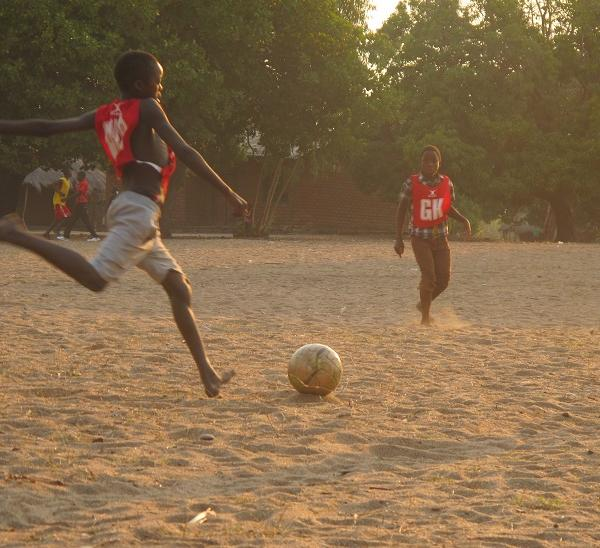 Football sports volunteering Africa