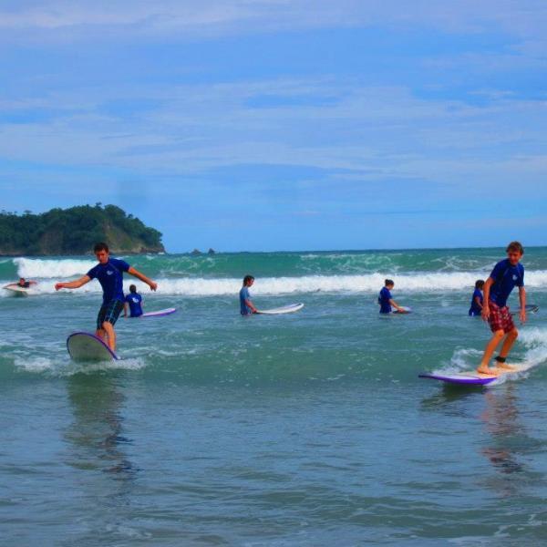 spanish and surf courses samara costa rica