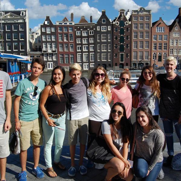 Amsterdam, Netherlands, Holland, Damrak, Canals, Teen Travel