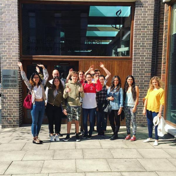 UCL Summer Students Visit Amnesty International