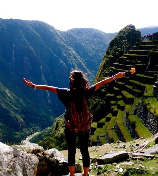On top of the world in peru