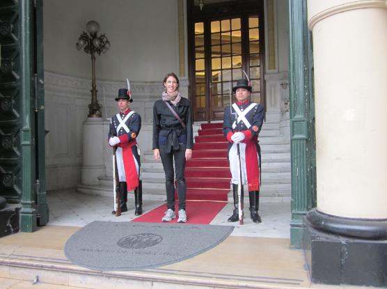 Buenos Aires Student With Guards
