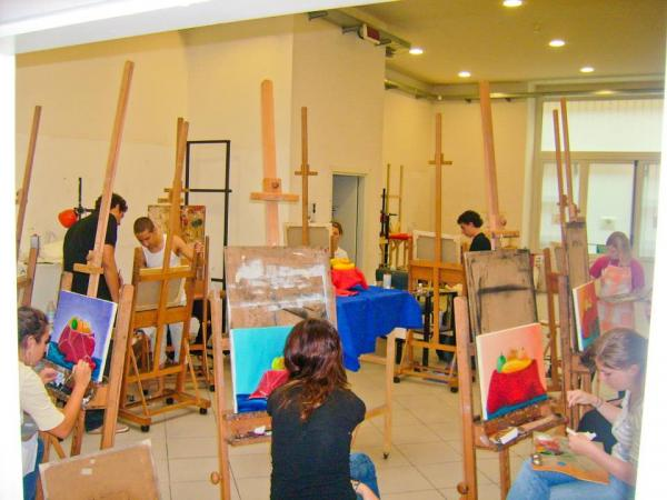 painting class florence italy italian