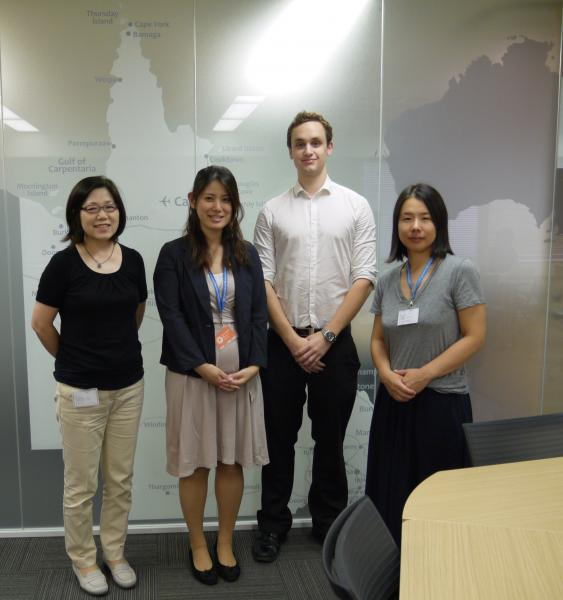 Marketing internship: Shaun from Australia with his supervisors