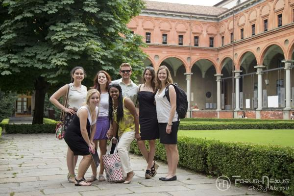 Students at Sacro Coeur Univ Milan