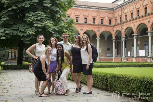 Students at Sacro Coeur Univ Milan