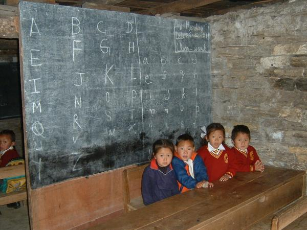 A classroom in Sikkim