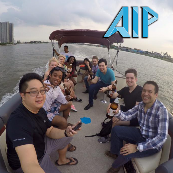 good bye party with our interns in Thailand