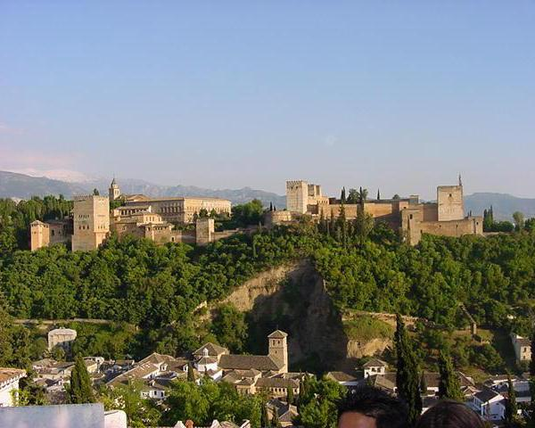 a beautiful castle in Granada, Spain