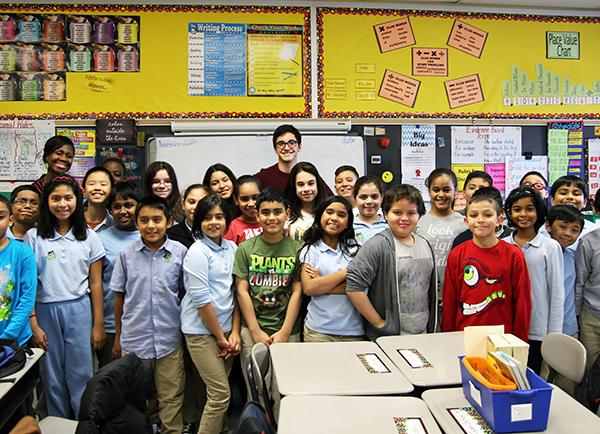 Sharing foreign culture and traditions with U.S. elementary school students