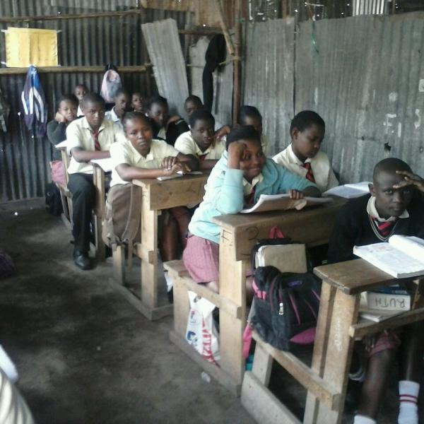 slum school volunteering in Kenya with Inspire