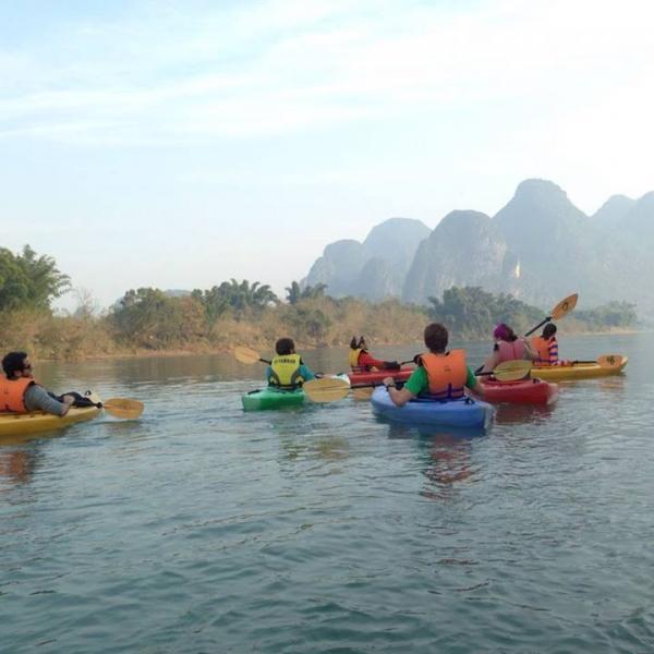 Kayaking after class