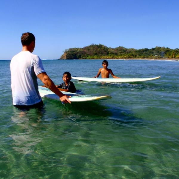 surfing for kids samara beach, costa rica