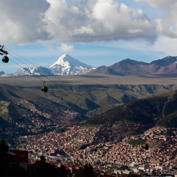 View of La Paz from Teleferico