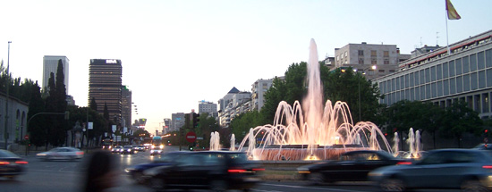 a fountain in madrid