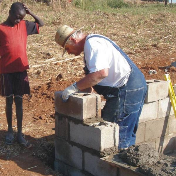 Volunteer builds a home for children in Ethiopia