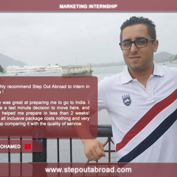 stepout abroad, internship, india, marketing