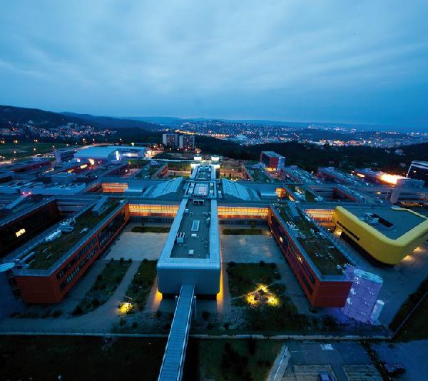 Masaryk University Campus at night