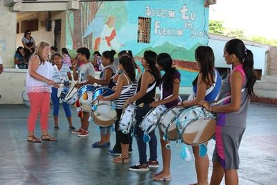 Volunteer teaching music, Ecuador, Projects Abroad