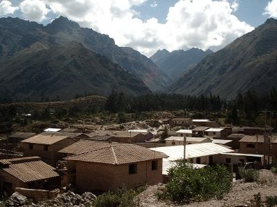 View of a volunteer in Bolivia