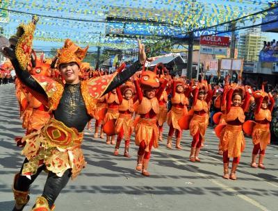 Local sinalog festival, in Bogo City, Cebu, the Philippines