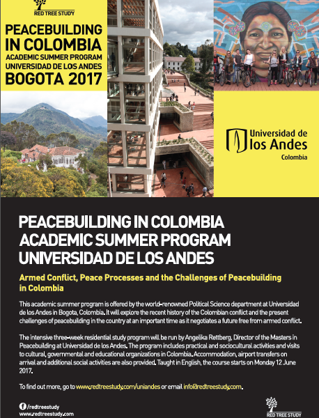 Peacebuilding in Colombia 2017 Poster