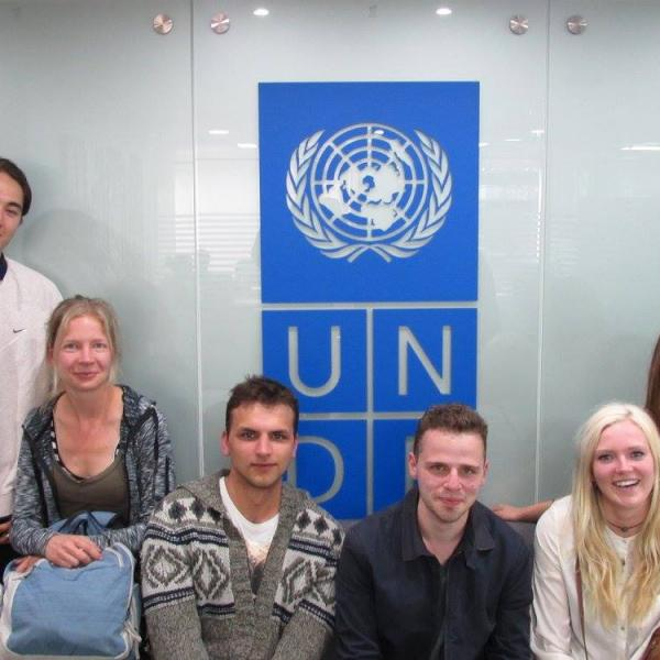 Peacebuilding in Colombia students visit the UN