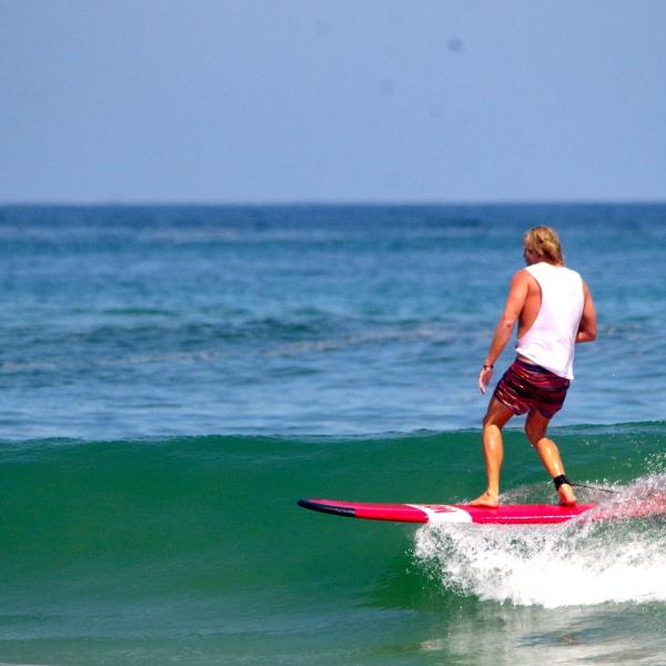 Surfing at Canggu, Bali