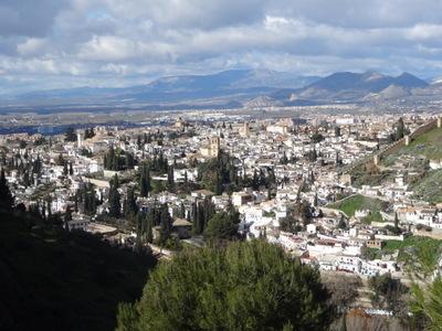 Arabic quarter Albaicín in Granada, Spain