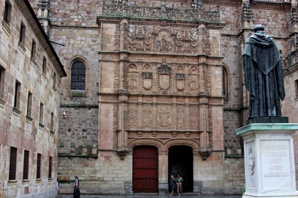 beautiful facade of the university of salamance