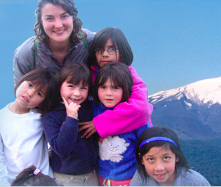 Volunteering with children in rural Chile