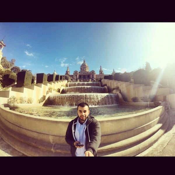 Fountain in Barcelona - Adelante Abroad - Intern in Barcelona