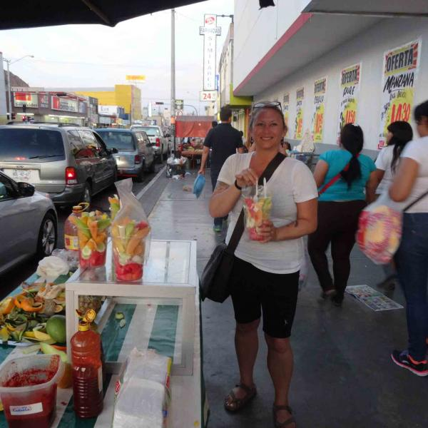 Shopping in town while volunteering in Mexico