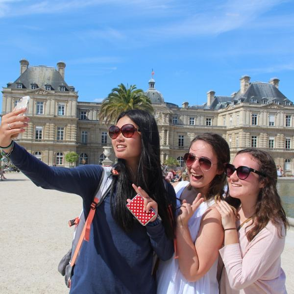 SPI high school study abroad students in Biarritz, France