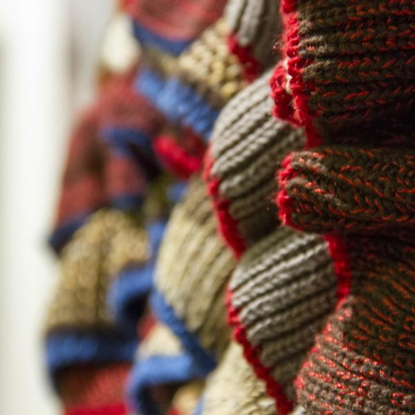 Knitwear sample by Stacey Peat, Nottingham Trent University