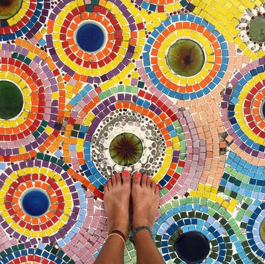 A floor mosaic