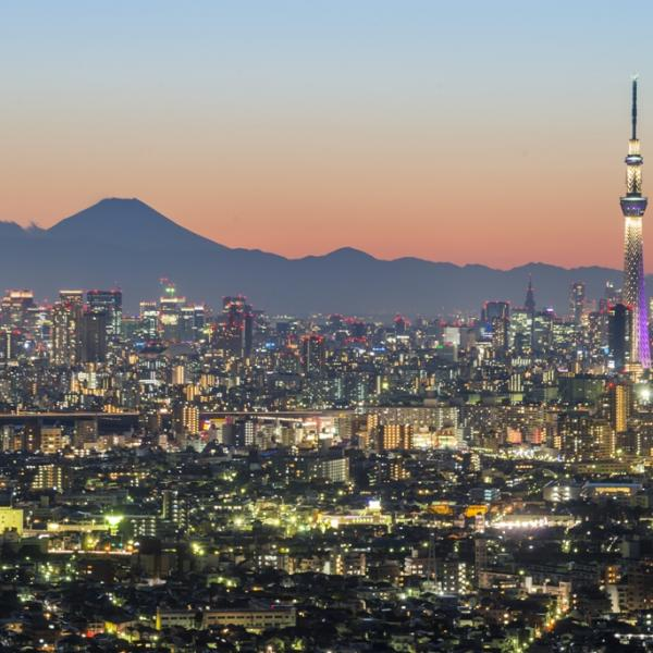 Skyline in Tokyo, Japan